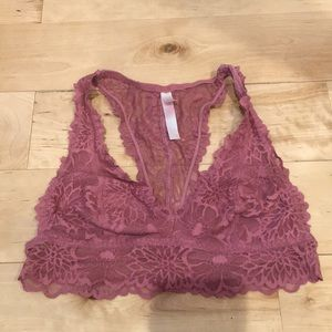 VS pink lace bralette